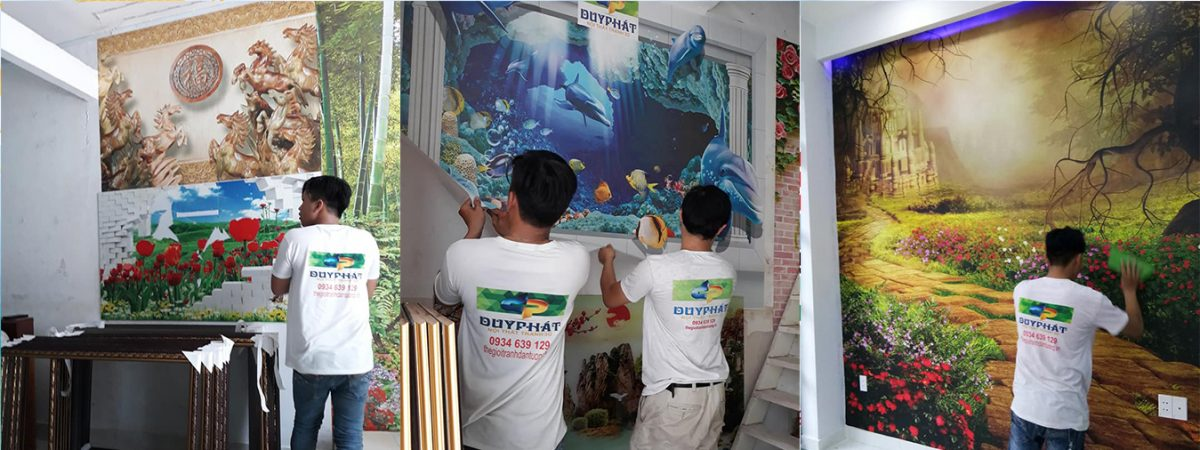 thi cong tranh dan tuong 2 1200x450 - Tranh 3D Duy Phát Tp.HCM