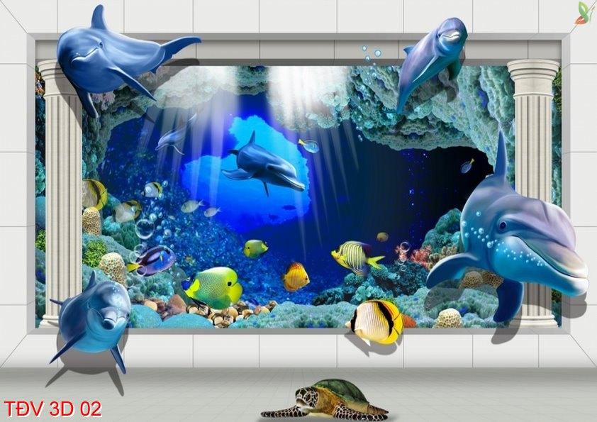 TÐV 3D 02 - Tranh động vật 3D TÐV 3D 02