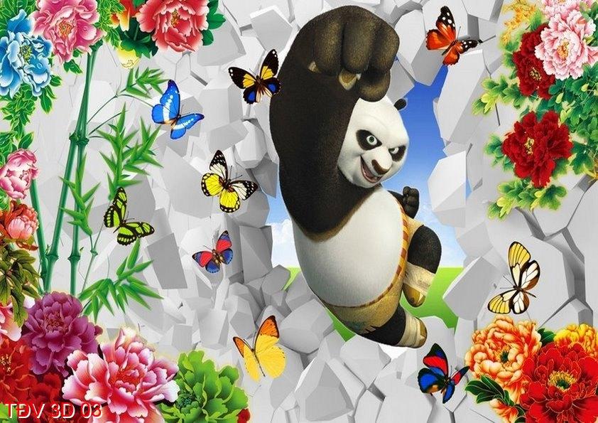 TÐV 3D 03 - Tranh động vật 3D TÐV 3D 03
