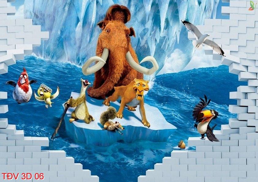 TÐV 3D 06 - Tranh động vật 3D TÐV 3D 06