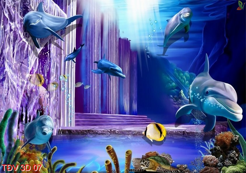 TÐV 3D 07 - Tranh động vật 3D TÐV 3D 07