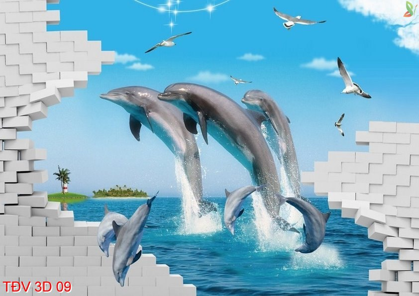 TÐV 3D 09 - Tranh động vật 3D TÐV 3D 09
