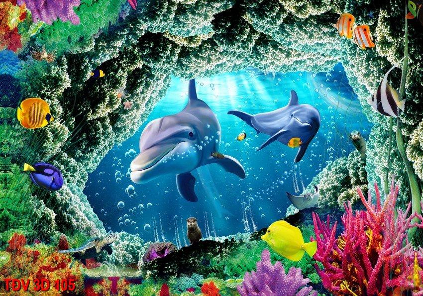 TÐV 3D 105 - Tranh động vật 3D TÐV 3D 105