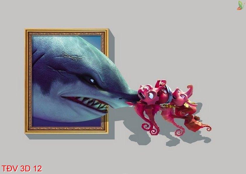 TÐV 3D 12 - Tranh động vật 3D TÐV 3D 12