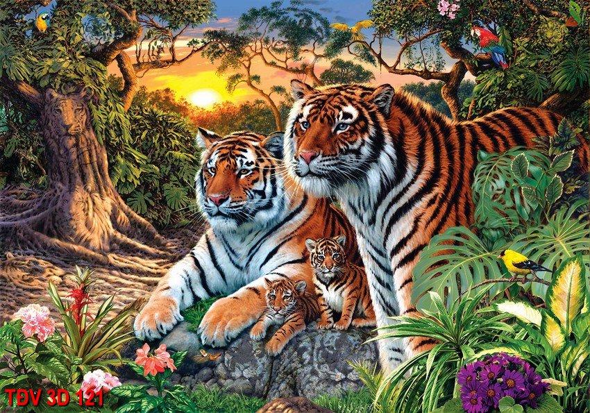 TÐV 3D 121 - Tranh động vật 3D TÐV 3D 121