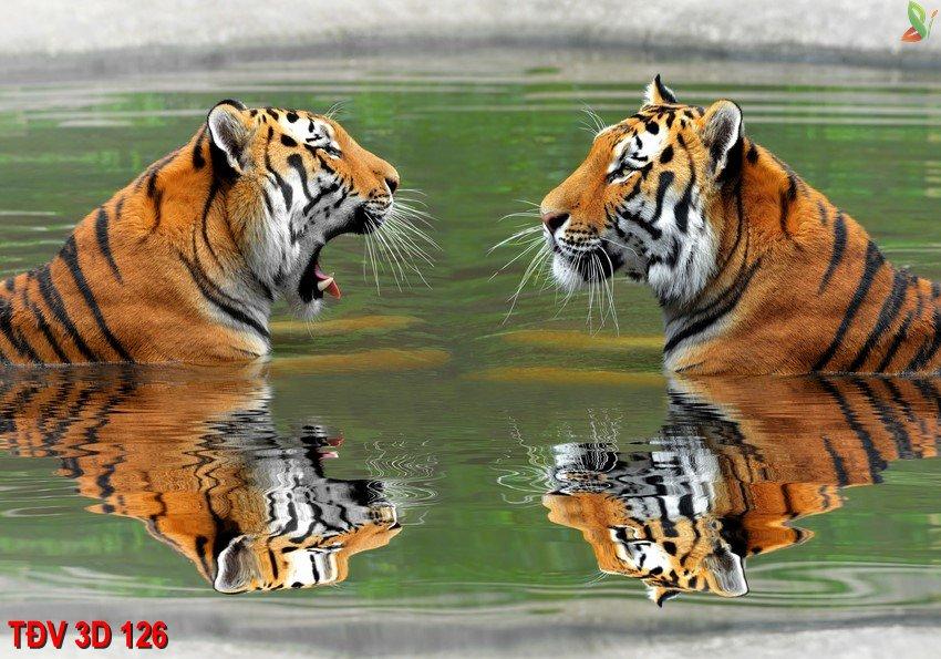 TÐV 3D 126 - Tranh động vật 3D TÐV 3D 126