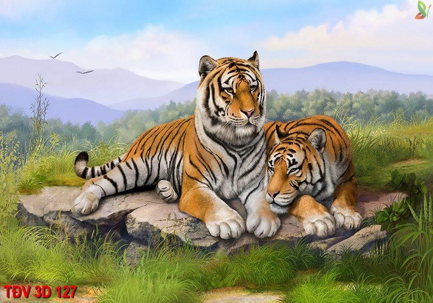 TÐV 3D 127 - Tranh động vật 3D TÐV 3D 127