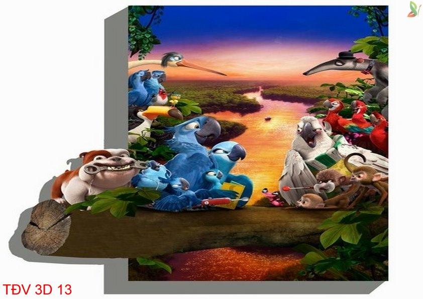 TÐV 3D 13 - Tranh động vật 3D TÐV 3D 13