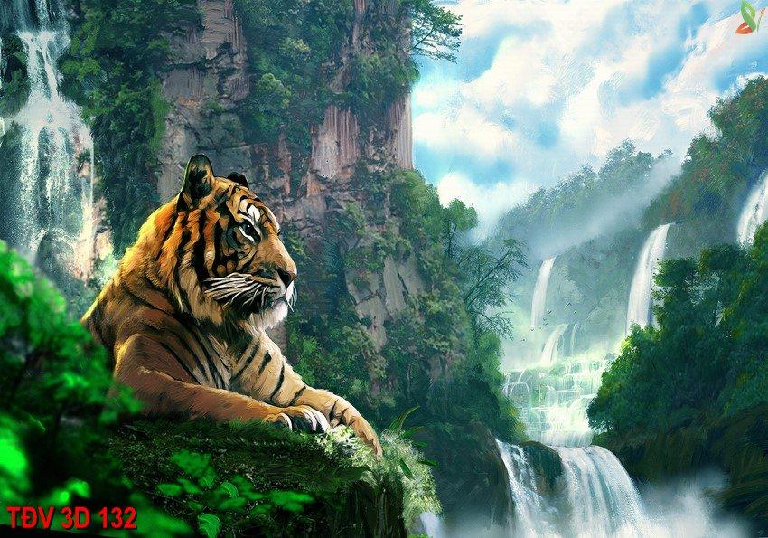 TÐV 3D 132 - Tranh động vật 3D TÐV 3D 132