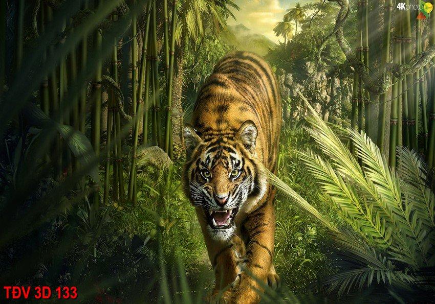 TÐV 3D 133 - Tranh động vật 3D TÐV 3D 133