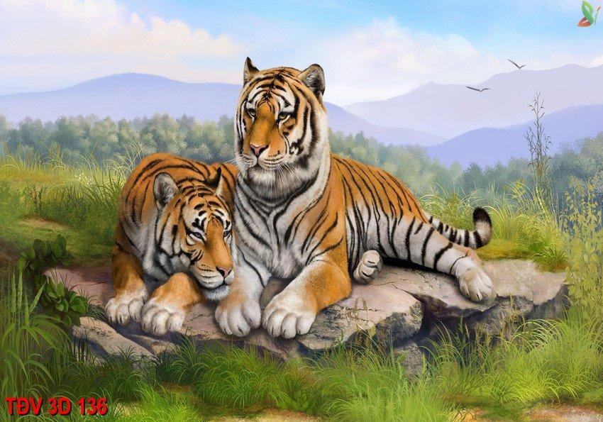 TÐV 3D 136 - Tranh động vật 3D TÐV 3D 136