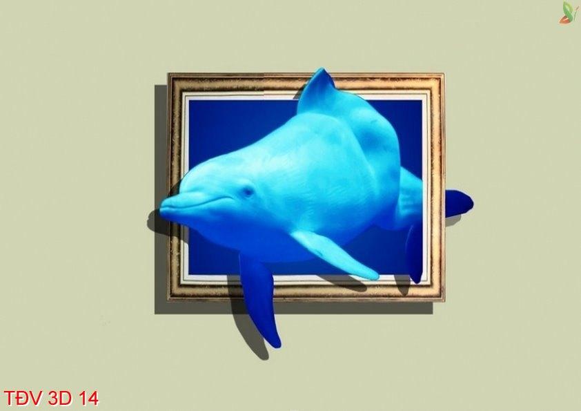TÐV 3D 14 - Tranh động vật 3D TÐV 3D 14