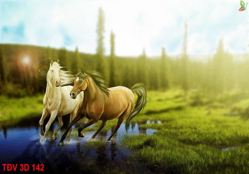 TÐV 3D 142 - Tranh động vật 3D TÐV 3D 142