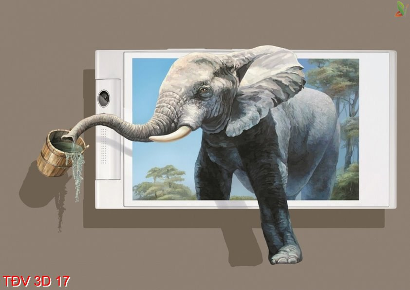 TÐV 3D 17 - Tranh động vật 3D TÐV 3D 17