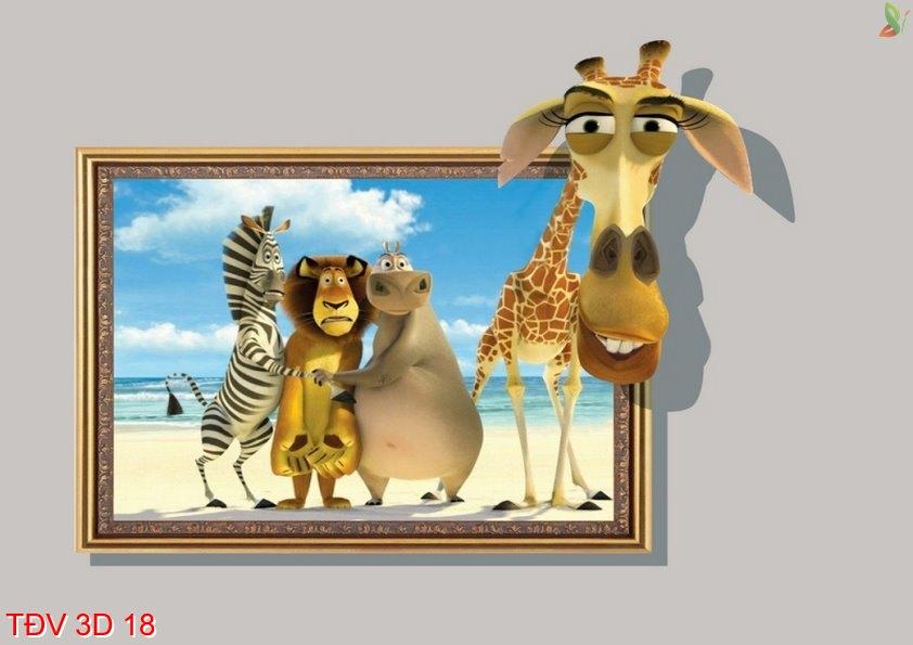 TÐV 3D 18 - Tranh động vật 3D TÐV 3D 18
