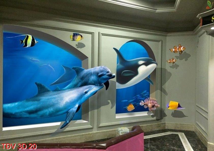 TÐV 3D 20 - Tranh động vật 3D TÐV 3D 20