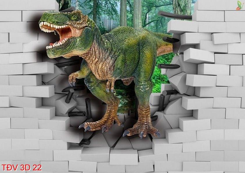 TÐV 3D 22 - Tranh động vật 3D TÐV 3D 22