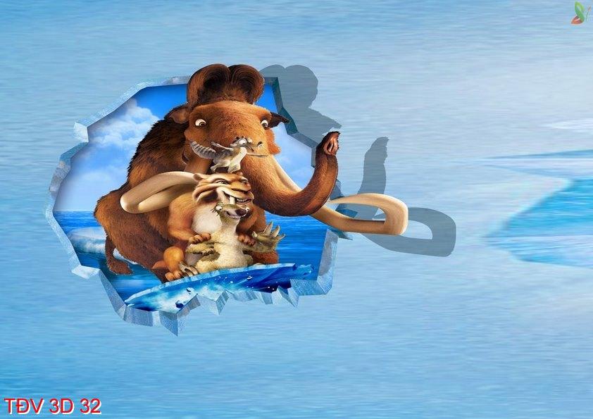 TÐV 3D 32 - Tranh động vật 3D TÐV 3D 32