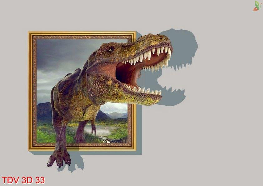 TÐV 3D 33 - Tranh động vật 3D TÐV 3D 33