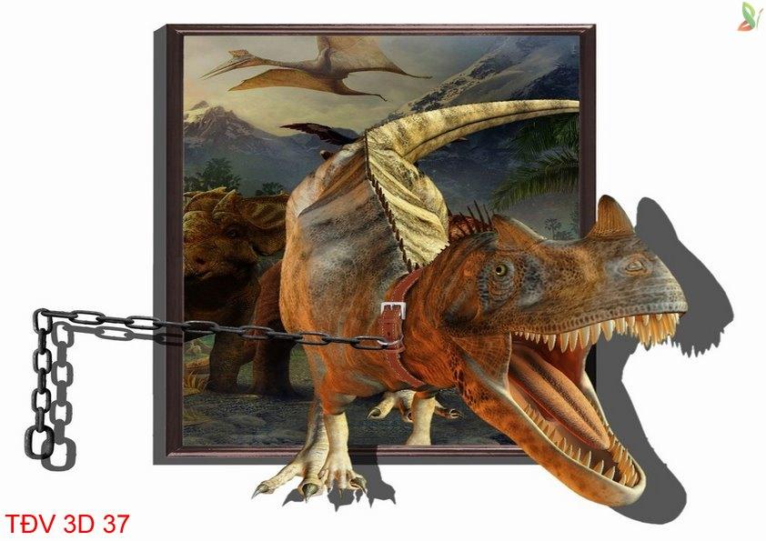 TÐV 3D 37 - Tranh động vật 3D TÐV 3D 37