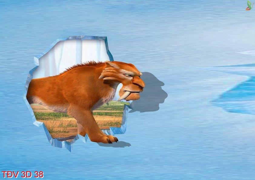 TÐV 3D 38 - Tranh động vật 3D TÐV 3D 38