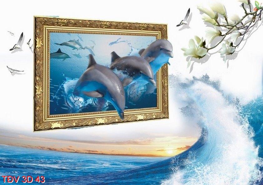 TÐV 3D 43 - Tranh động vật 3D TÐV 3D 43