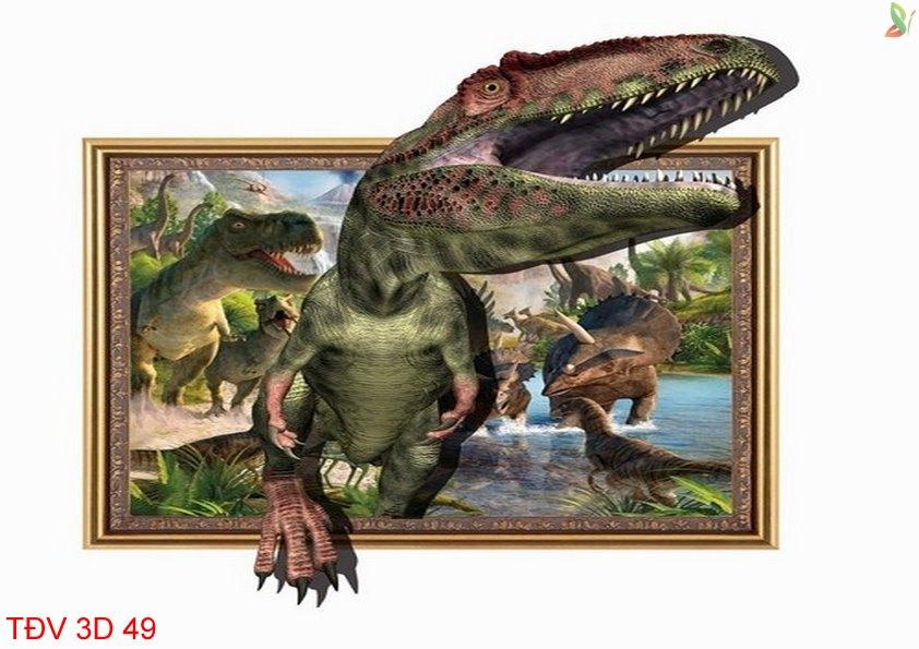 TÐV 3D 49 - Tranh động vật 3D TÐV 3D 49