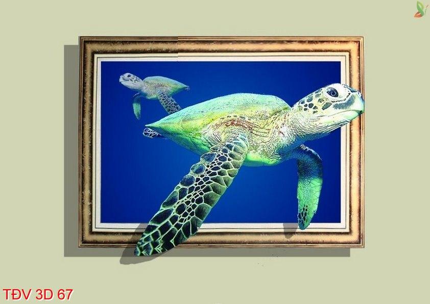 TÐV 3D 67 - Tranh động vật 3D TÐV 3D 67