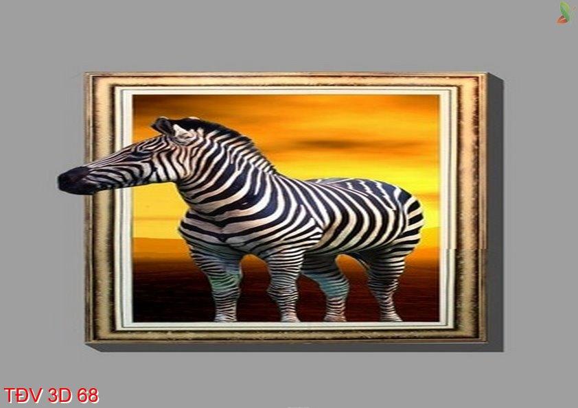 TÐV 3D 68 - Tranh động vật 3D TÐV 3D 68