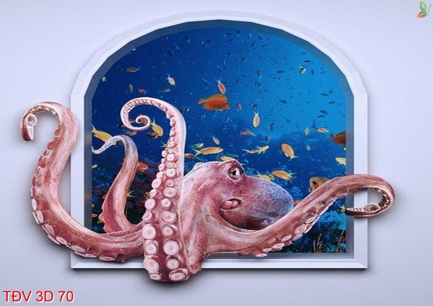 TÐV 3D 70 - Tranh động vật 3D TÐV 3D 70