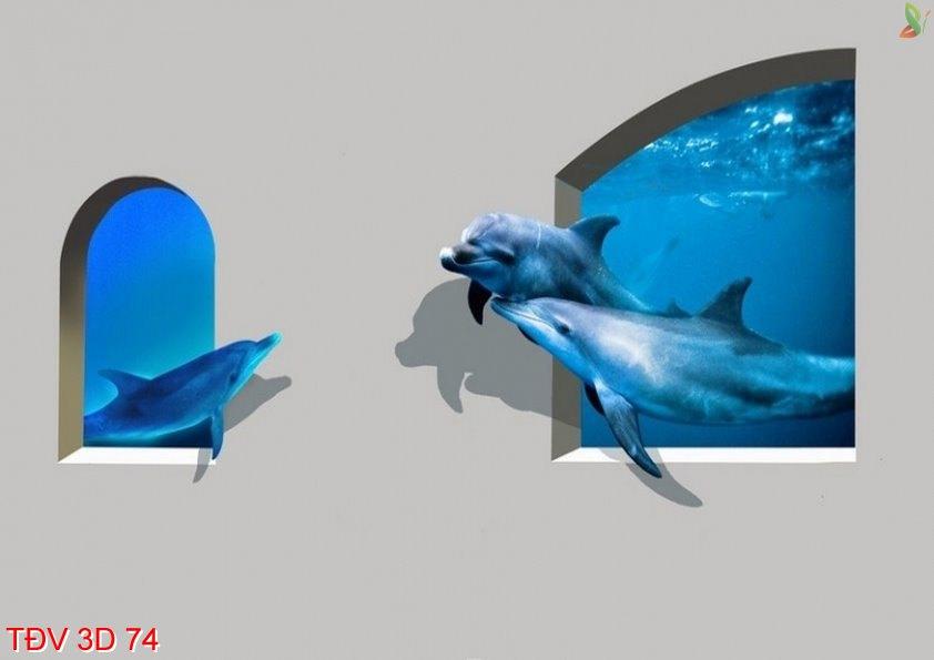 TÐV 3D 74 - Tranh động vật 3D TÐV 3D 74