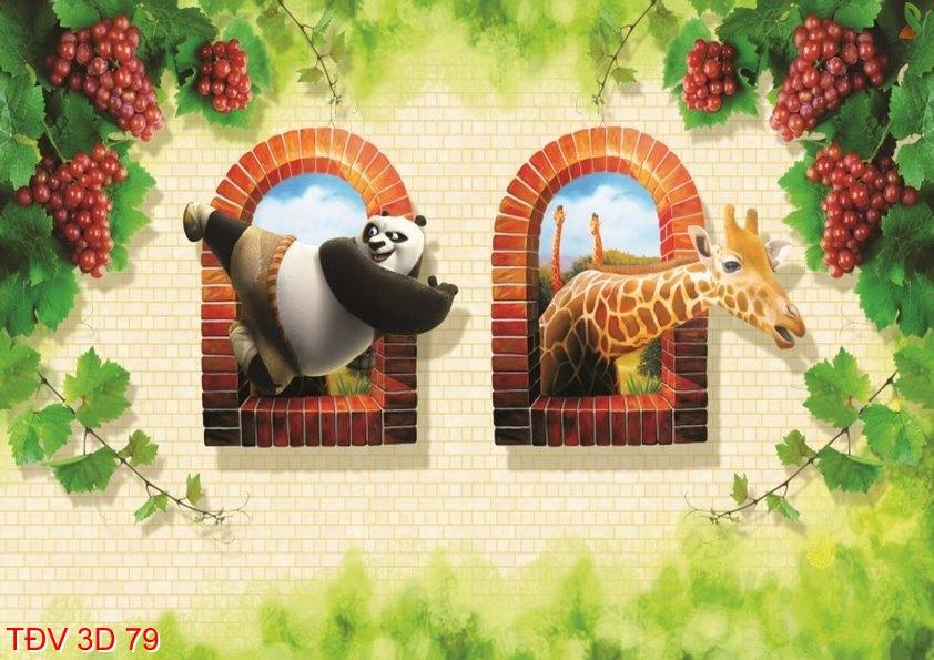 TÐV 3D 79 - Tranh động vật 3D TÐV 3D 79