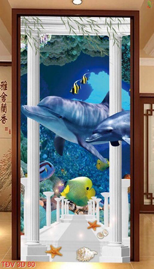 TÐV 3D 80 515x900 - Tranh động vật 3D TÐV 3D 80