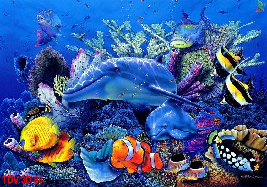 TÐV 3D 86 - Tranh động vật 3D TÐV 3D 86