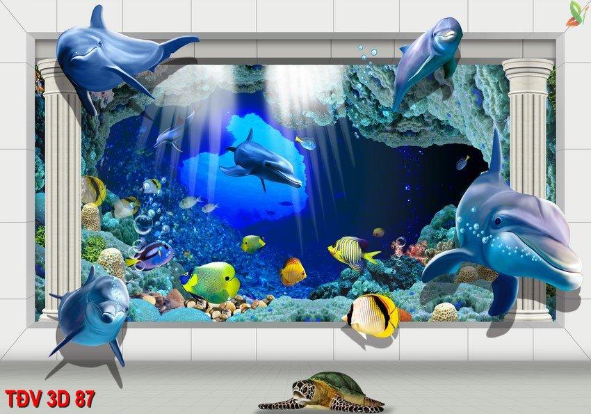 TÐV 3D 87 - Tranh động vật 3D TÐV 3D 87
