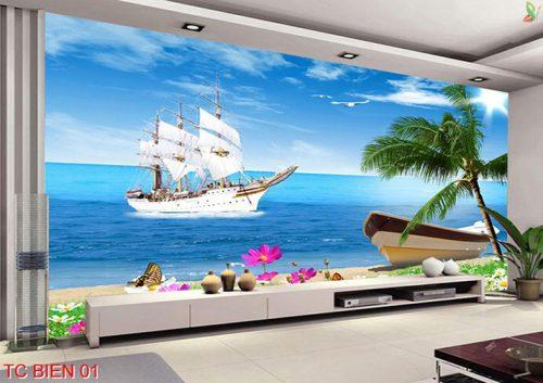 TC Bien 01 500x353 - Tranh dán tường phòng khách khổ lớn giá rẻ