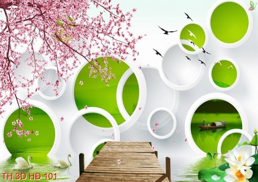 TH 3D HÐ 101 - Tranh hoa 3D hiện đại 101