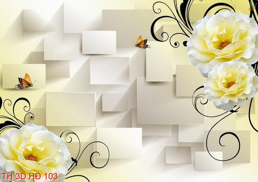 TH 3D HÐ 103 - Tranh hoa 3D hiện đại 103