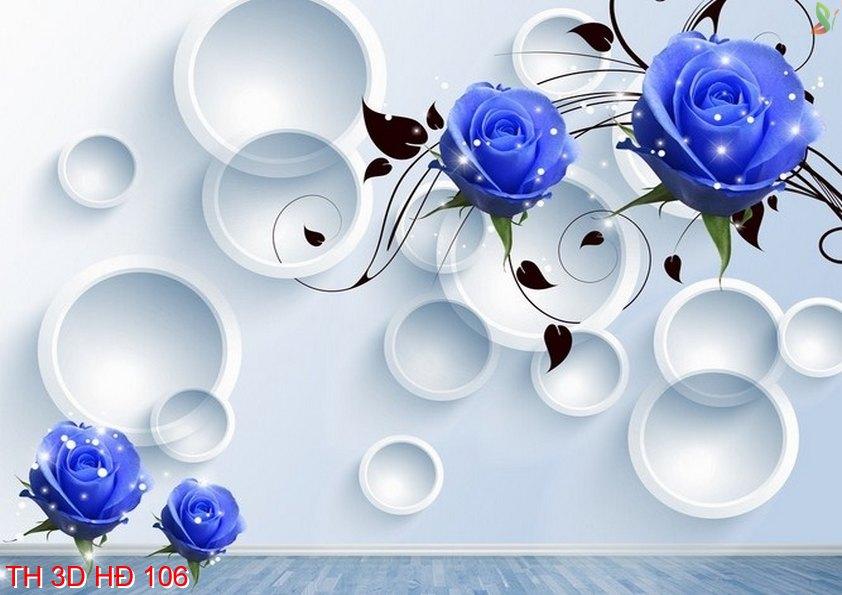 TH 3D HÐ 106 - Tranh hoa 3D hiện đại  106