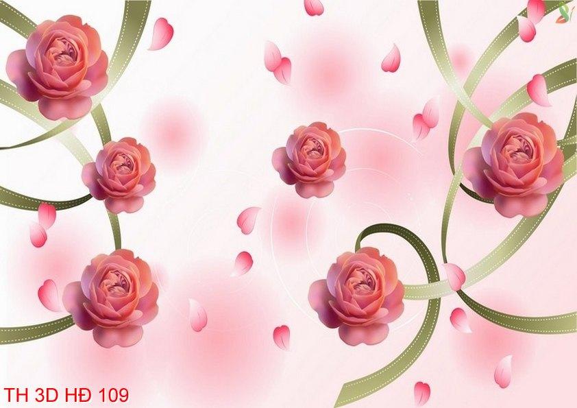 TH 3D HÐ 109 - Tranh hoa 3D hiện đại 109