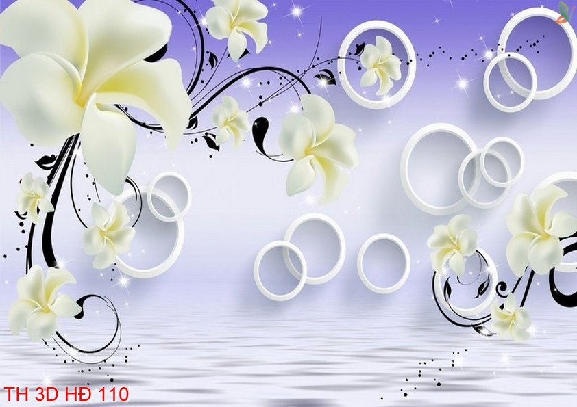 TH 3D HÐ 110 - Tranh hoa 3D hiện đại TH 3D HÐ 110