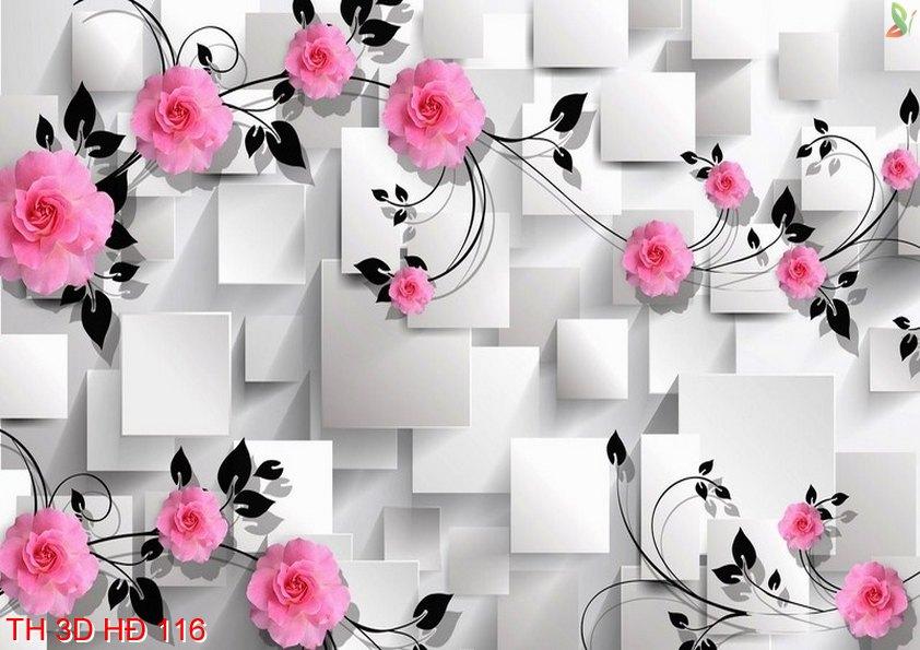 TH 3D HÐ 116 - Tranh hoa 3D hiện đại TH 3D HÐ 116