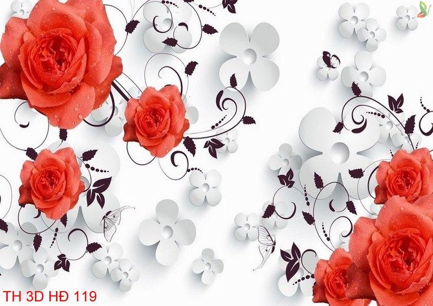 TH 3D HÐ 119 - Tranh hoa 3D hiện đại TH 3D HÐ 119