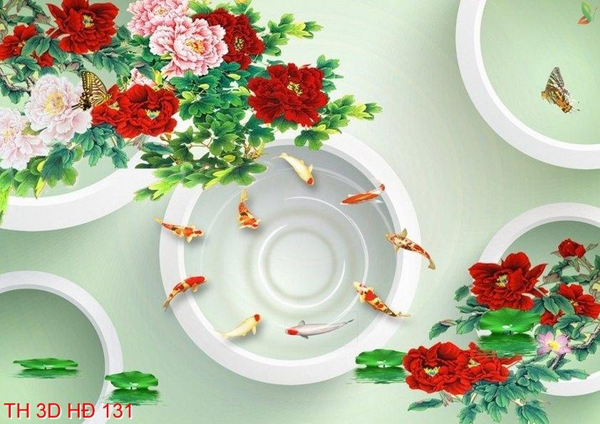 TH 3D HÐ 131 - Tranh hoa 3D hiện đại 131
