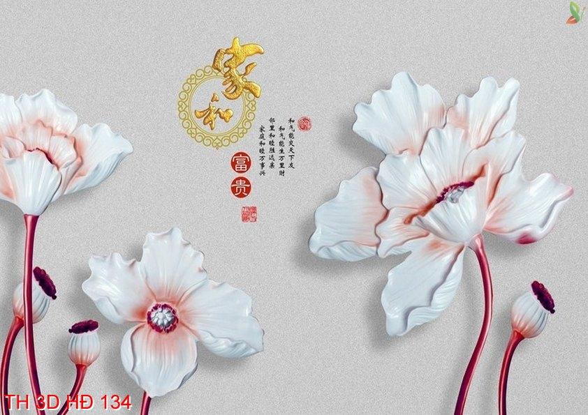 TH 3D HÐ 134 - Tranh hoa 3D hiện đại TH 3D HÐ 134
