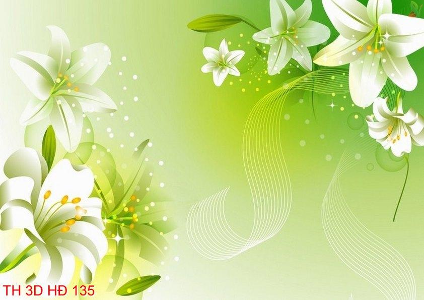 TH 3D HÐ 135 - Tranh hoa 3D hiện đại TH 3D HÐ 135