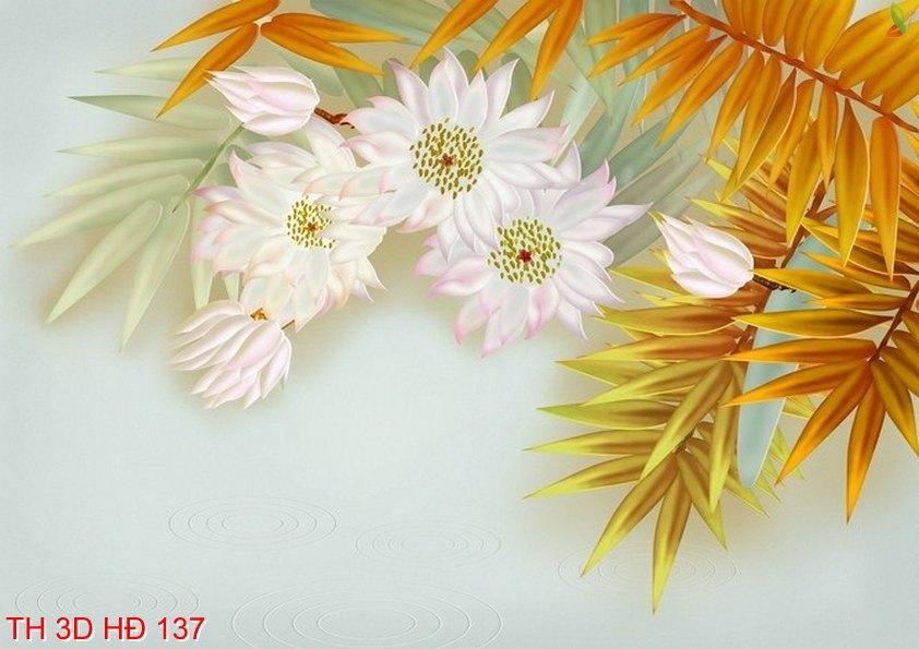 TH 3D HÐ 137 - Tranh hoa 3D hiện đại TH 3D HÐ 137