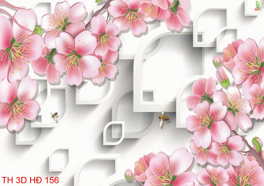 TH 3D HÐ 156 - Tranh hoa 3D hiện đại TH 3D HÐ 156
