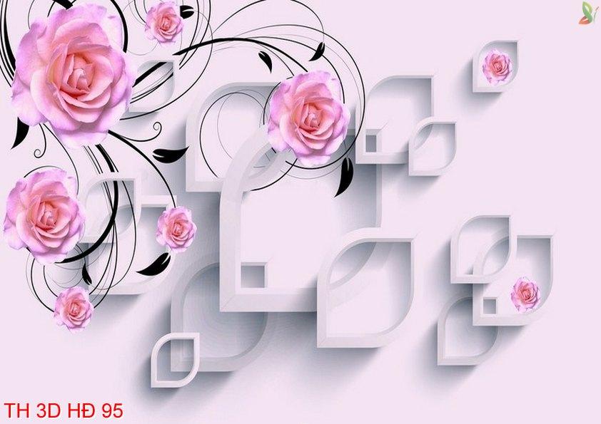 TH 3D HÐ 95 - Tranh hoa 3D hiện đại 95
