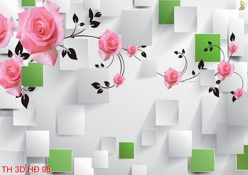 TH 3D HÐ 98 1 - Tranh hoa 3D hiện đại 98
